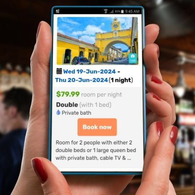Online mobile bookings for your backpacker hostel website